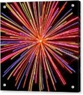 Multicolored Fireworks Acrylic Print