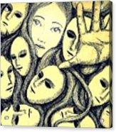 Multiple Personalities Acrylic Print by Paulo Zerbato