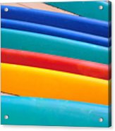 Multitude Of Surfboards Acrylic Print