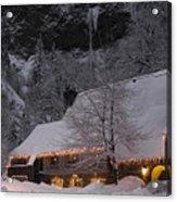 Multnomah Falls Christmas  Acrylic Print