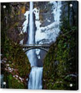 Multnomah Falls Frozen Acrylic Print