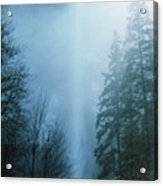 Multnomah Falls Through The Clouds Acrylic Print