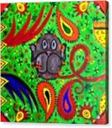 Mun Moji-hookah Monkey Acrylic Print