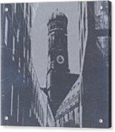 Munich Frauenkirche Acrylic Print by Naxart Studio