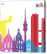 Munich Skyline Pop Acrylic Print