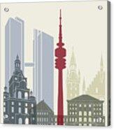Munich Skyline Poster Acrylic Print
