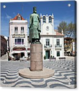 Municipal Square In Cascais Portugal Acrylic Print