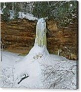 Munising Falls Frozen Acrylic Print