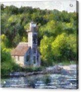 Munising Grand Island Lighthouse Upper Peninsula Michigan Pa 01 Acrylic Print