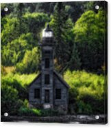 Munising Grand Island Lighthouse Upper Peninsula Michigan Vertical 01 Acrylic Print