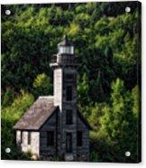 Munising Grand Island Lighthouse Upper Peninsula Michigan Vertical 02 Acrylic Print