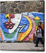 Mural In Valparaiso Acrylic Print