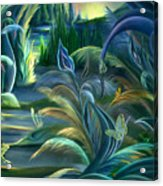 Mural  Insects Of Enchanted Stream Acrylic Print