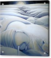 Mural  Winters Embracing Crevice Acrylic Print