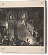 Murder Of Edith Cavell, First State By George Bellows 1882-1925 Acrylic Print