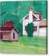 Murray Hill Watercolor Acrylic Print