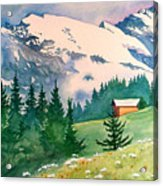 Murren Switzerland Acrylic Print by Scott Nelson
