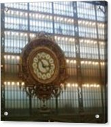 Museum D'orsay Clock Acrylic Print