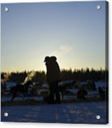 Mushers At Sunrise Acrylic Print