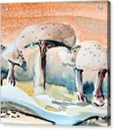 Mushroom Heaven Acrylic Print by Mindy Newman