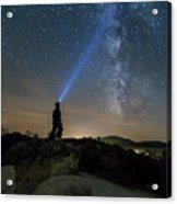 Mushroom Rocks Phenomenon Under The Night Sky Acrylic Print