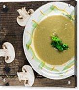 Mushroom Soup Acrylic Print by Deyan Georgiev