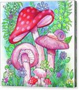 Mushroom Wonderland Acrylic Print