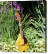 Music And Flowers Acrylic Print