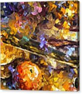 Music And Wine - Palette Knife Oil Painting On Canvas By Leonid Afremov Acrylic Print