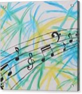 Music Burst Acrylic Print