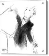 Music Conductor Sketch Acrylic Print