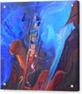 Music For Saxy Acrylic Print
