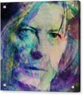 Music Icons - David Bowie Ill Acrylic Print