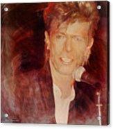 Music Icons - David Bowie Iv Acrylic Print