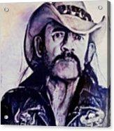 Music Icons - Lemmy Kilmister Iv Acrylic Print