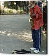 Music In Tompkins Square Acrylic Print
