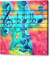 Music Is Everything In Colors Acrylic Print