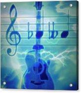 Music Is Everything Lightning Acrylic Print
