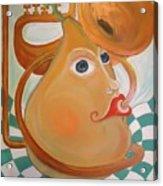 Music Loving Pear. I Love Pears Acrylic Print