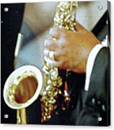 Music Man Saxophone 1 Acrylic Print