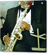 Music Man Saxophone 2 Acrylic Print