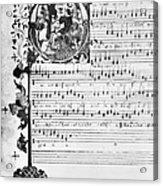 Music Manuscript, 1450 Acrylic Print