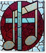 Music Of The Cross Acrylic Print