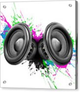 Music Speakers Colorful Design Acrylic Print