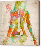 Music Was My First Love Acrylic Print