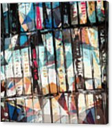 Musical Cassette Tapes Collage Acrylic Print