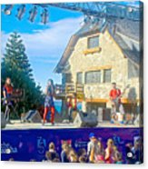 Musical Entertainment In Central Park In Bariloche-argentina Acrylic Print