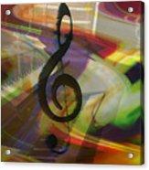Musical Waves Acrylic Print