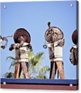 Musicians At The Hotel California Todos Santos Mx Acrylic Print