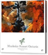 Muskoka Autumn Sunset Northern Ontario Poster Series Acrylic Print